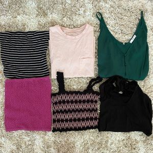 bundle of XS summer tops and tanks